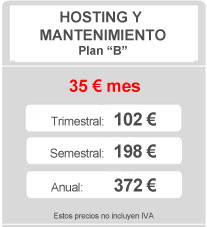Plan Hosting y Mantenimiento B